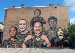 Faces of Homelessness mural