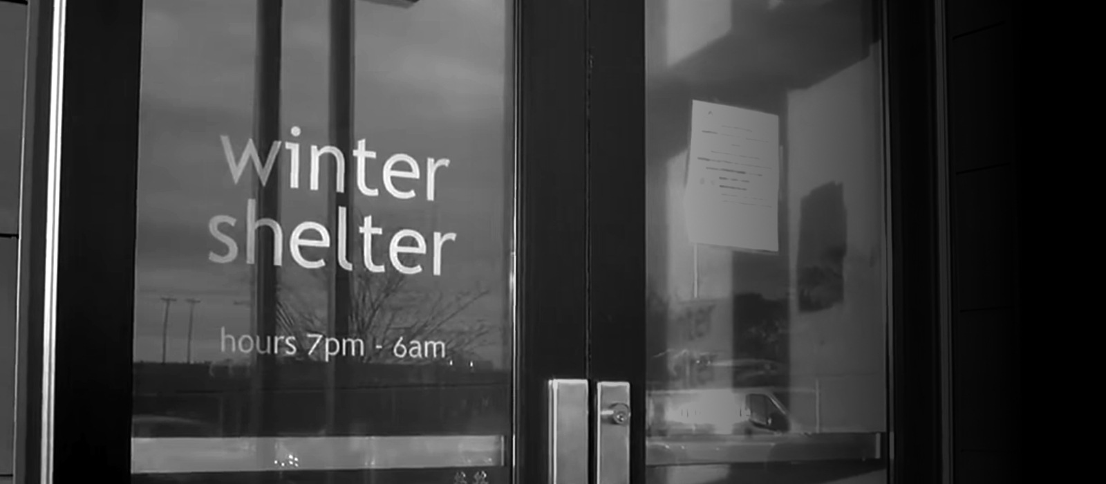 Banner image for winter shelter video. Click to learn more and watch the video.
